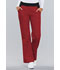 Photograph of Cherokee Flexibles Women\'s Mid Rise Knit Waist Pull-On Pant Red 1031-REDB