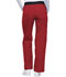 Photograph of Flexibles Women's Mid Rise Knit Waist Pull-On Pant Red 1031-REDB