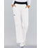 Photograph of Cherokee Flexibles Women\'s Mid Rise Knit Waist Pull-On Pant White 1031-WHTS
