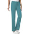 Photograph of Cherokee Luxe Women's Low Rise Straight Leg Drawstring Pant Green 1066-TEAV