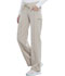 Photograph of Cherokee Infinity Women's Low Rise Straight Leg Drawstring Pant Khaki 1123A-KAK