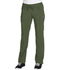 Photograph of Infinity Women's Low Rise Straight Leg Drawstring Pant Green 1123A-OLPS