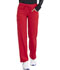 Photograph of Infinity Women Low Rise Straight Leg Drawstring Pant Red 1123A-RED