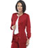 Photograph of Luxe Women's Snap Front Warm-Up Jacket Red 1330-REDV