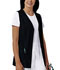 Photograph of Cherokee Fashion Solids Women\'s Button Front Vest Black 1602-BLKB