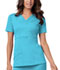 Photograph of Cherokee Luxe Women's Mock Wrap Top Blue 1841-BLUV