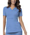 Photograph of Luxe Women's Mock Wrap Top Blue 1841-CELV