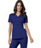 Photograph of Luxe Women's Mock Wrap Top Blue 1841-GABV