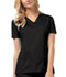Photograph of Luxe Women V-Neck Top Black 1845-BLKV