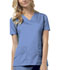 Photograph of Luxe Women V-Neck Top Blue 1845-CELV
