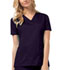 Photograph of Luxe Women's V-Neck Top Purple 1845-GRPV