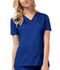 Photograph of Cherokee Luxe Women's V-Neck Top Blue 1845-ROYV
