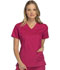 Photograph of Cherokee Luxe Women's V-Neck Top Red 1845-UPBT