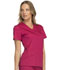 Photograph of Luxe Women's V-Neck Top Red 1845-UPBT