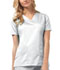 Photograph of Luxe Women V-Neck Top White 1845-WHTV