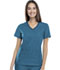 Photograph of Cherokee Flexibles Women\'s V-Neck Knit Panel Top Blue 1909-CABB