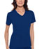 Photograph of Cherokee Flexibles Women\'s V-Neck Knit Panel Top Blue 1909-GABB