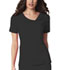 Photograph of Luxe Women's Crossover V-Neck Pin-Tuck Top Black 1999-BLKV