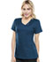 Photograph of Cherokee Luxe Women's Crossover V-Neck Pin-Tuck Top Blue 1999-CARV