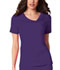 Photograph of Cherokee Luxe Women's Crossover V-Neck Pin-Tuck Top Purple 1999-GRPV