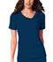 Photograph of Cherokee Luxe Women's Crossover V-Neck Pin-Tuck Top Blue 1999-NAVV