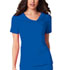 Photograph of Luxe Women Crossover V-Neck Pin-Tuck Top Blue 1999-ROYV