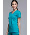 Photograph of Luxe Women's Crossover V-Neck Pin-Tuck Top Green 1999-TEAV