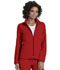 Photograph of Break on Through Women's Zip Front Warm-Up Jacket Red 20310-RDHH