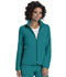 Photograph of Break on Through Women's Zip Front Warm-Up Jacket Blue 20310-TEAH