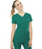 Photograph of Break on Through Women's Pitter-Pat Shaped V-Neck Top Green 20710-HUNH