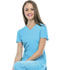 Photograph of Break on Through Women's Pitter-Pat Shaped V-Neck Top Blue 20710-TURH