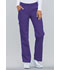 Photograph of Cherokee Flexibles Women\'s Mid Rise Knit Waist Pull-On Pant Purple 2085-GRPB