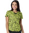 Photograph of HeartSoul Prints Women's Sweetheart Neck Top Wild You Were Out Sunny Lime 20907-WISY