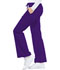 Photograph of Cherokee Luxe Women's Low Rise Flare Leg Drawstring Cargo Pant Purple 21100-GRPV
