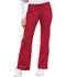 Photograph of Cherokee Luxe Women's Low Rise Flare Leg Drawstring Cargo Pant Red 21100-REDV