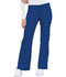 Photograph of Cherokee Luxe Women's Low Rise Flare Leg Drawstring Cargo Pant Blue 21100-ROYV
