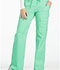 Photograph of Cherokee Luxe Women's Low Rise Flare Leg Drawstring Cargo Pant Green 21100-SPCT