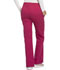 Photograph of Cherokee Luxe Women's Low Rise Flare Leg Drawstring Cargo Pant Red 21100-UPBT