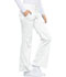 Photograph of Cherokee Luxe Women's Low Rise Flare Leg Drawstring Cargo Pant White 21100-WHTV