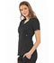 Photograph of Luxe Women Empire Waist Mock Wrap Top Black 21701-BLKV