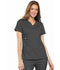 Photograph of Cherokee Luxe Women's Empire Waist Mock Wrap Top Gray 21701-PEWV
