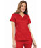 Photograph of Luxe Women's Empire Waist Mock Wrap Top Red 21701-REDV