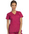 Photograph of Cherokee Luxe Women's Empire Waist Mock Wrap Top Red 21701-UPBT