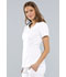 Photograph of Luxe Women's Empire Waist Mock Wrap Top White 21701-WHTV