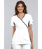 Photograph of Cherokee Flexibles Women's Mock Wrap Knit Panel Top White 2500-WHTS