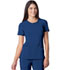 Photograph of Infinity Women's Round Neck Top Blue 2624A-RYPS