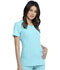 Photograph of Infinity Women Round Neck Top Blue 2624A-STAL