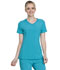 Photograph of Infinity Women Mock Wrap Top Blue 2625A-TLPS