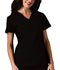 Photograph of Cherokee Flexibles Women\'s V-Neck Knit Panel Top Black 2874-BLKB
