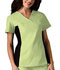 Photograph of Cherokee Flexibles Women\'s V-Neck Knit Panel Top Green 2874-CELB
